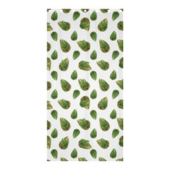 Leaves Motif Nature Pattern Shower Curtain 36  x 72  (Stall)