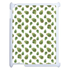 Leaves Motif Nature Pattern Apple iPad 2 Case (White)