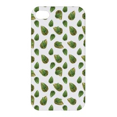 Leaves Motif Nature Pattern Apple iPhone 4/4S Premium Hardshell Case