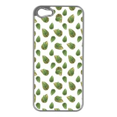 Leaves Motif Nature Pattern Apple iPhone 5 Case (Silver)