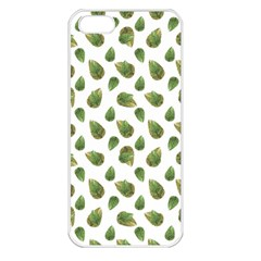Leaves Motif Nature Pattern Apple iPhone 5 Seamless Case (White)