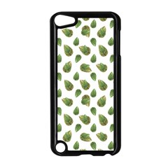 Leaves Motif Nature Pattern Apple iPod Touch 5 Case (Black)