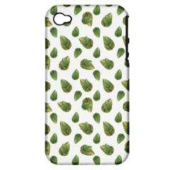 Leaves Motif Nature Pattern Apple iPhone 4/4S Hardshell Case (PC+Silicone)