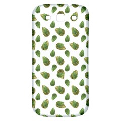 Leaves Motif Nature Pattern Samsung Galaxy S3 S III Classic Hardshell Back Case