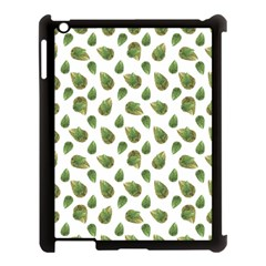 Leaves Motif Nature Pattern Apple iPad 3/4 Case (Black)
