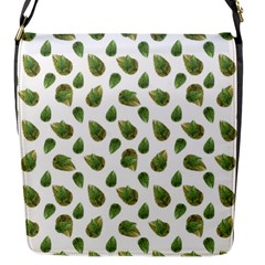 Leaves Motif Nature Pattern Flap Messenger Bag (S)