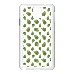 Leaves Motif Nature Pattern Samsung Galaxy Note 3 N9005 Case (White)