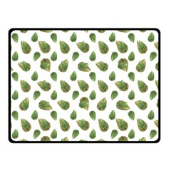 Leaves Motif Nature Pattern Double Sided Fleece Blanket (Small)