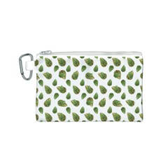 Leaves Motif Nature Pattern Canvas Cosmetic Bag (S)