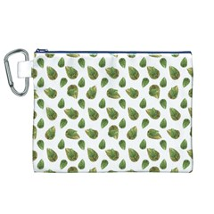 Leaves Motif Nature Pattern Canvas Cosmetic Bag (XL)