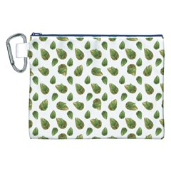 Leaves Motif Nature Pattern Canvas Cosmetic Bag (XXL)