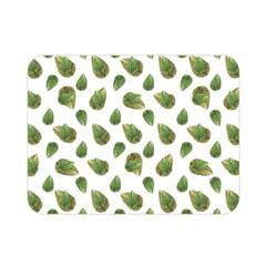 Leaves Motif Nature Pattern Double Sided Flano Blanket (Mini)