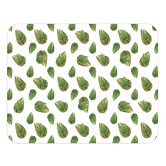Leaves Motif Nature Pattern Double Sided Flano Blanket (Large)