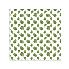 Leaves Motif Nature Pattern Small Satin Scarf (Square)