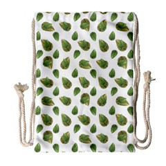 Leaves Motif Nature Pattern Drawstring Bag (Large)