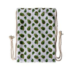 Leaves Motif Nature Pattern Drawstring Bag (Small)