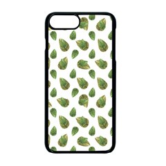 Leaves Motif Nature Pattern Apple Iphone 7 Plus Seamless Case (black)
