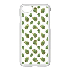 Leaves Motif Nature Pattern Apple Iphone 7 Seamless Case (white)