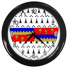 County Tipperary Coat of Arms  Wall Clocks (Black)