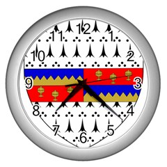 County Tipperary Coat of Arms  Wall Clocks (Silver)