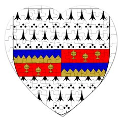 County Tipperary Coat of Arms  Jigsaw Puzzle (Heart)