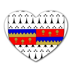 County Tipperary Coat of Arms  Heart Mousepads