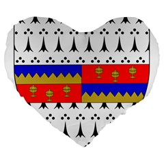 County Tipperary Coat of Arms  Large 19  Premium Heart Shape Cushions