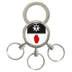 County Tyrone Coat of Arms  3-Ring Key Chains