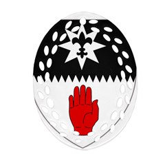 County Tyrone Coat of Arms  Ornament (Oval Filigree)