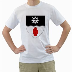 County Tyrone Coat of Arms  Men s T-Shirt (White) (Two Sided)