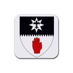 County Tyrone Coat of Arms  Rubber Coaster (Square)