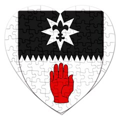 County Tyrone Coat of Arms  Jigsaw Puzzle (Heart)