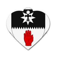 County Tyrone Coat of Arms  Dog Tag Heart (Two Sides)