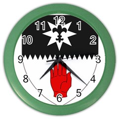 County Tyrone Coat of Arms  Color Wall Clocks