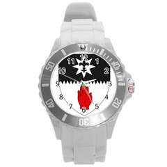 County Tyrone Coat of Arms  Round Plastic Sport Watch (L)