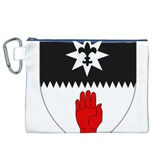 County Tyrone Coat of Arms  Canvas Cosmetic Bag (XL)