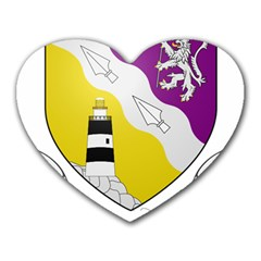 County Wexford Coat of Arms  Heart Mousepads