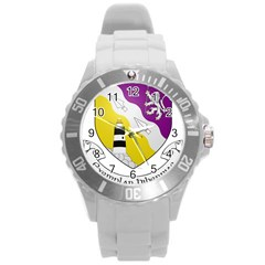 County Wexford Coat Of Arms  Round Plastic Sport Watch (l)