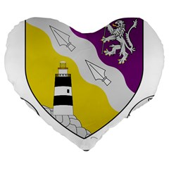 County Wexford Coat of Arms  Large 19  Premium Heart Shape Cushions
