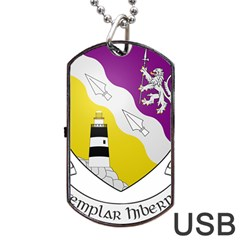 County Wexford Coat of Arms  Dog Tag USB Flash (One Side)