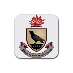 County Dublin Coat of Arms  Rubber Coaster (Square)