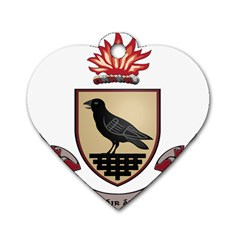 County Dublin Coat of Arms  Dog Tag Heart (Two Sides)