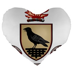 County Dublin Coat of Arms  Large 19  Premium Heart Shape Cushions