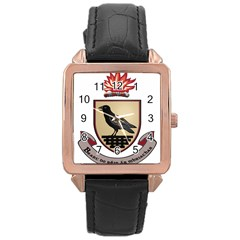 County Dublin Coat of Arms  Rose Gold Leather Watch