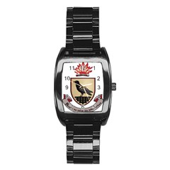 County Dublin Coat of Arms  Stainless Steel Barrel Watch