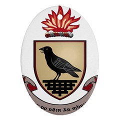 County Dublin Coat of Arms  Ornament (Oval)