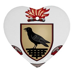 County Dublin Coat of Arms  Heart Ornament (Two Sides)