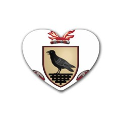 County Dublin Coat of Arms  Rubber Coaster (Heart)