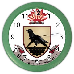 County Dublin Coat of Arms  Color Wall Clocks