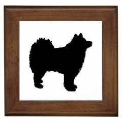 Finnish Lapphund Silhouette Black Framed Tiles